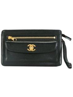 клатч с логотипом  Chanel Vintage