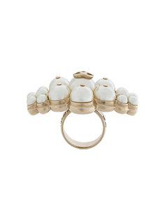 объемное кольцо с жемчугом Chanel Vintage