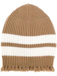 трикотажная шапка с полосками и бахромой MSGM