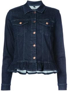 джинсовая куртка с оборками J Brand