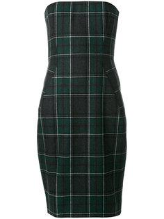 платье без бретелек с узором тартан  Dsquared2