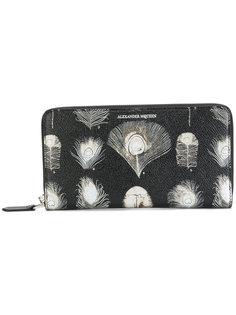 бумажник Feathers Alexander McQueen
