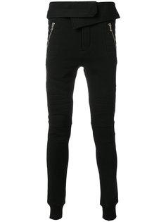 спортивные брюки с отворотом Balmain