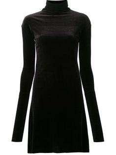 велюровое платье с отворотной горловиной Les Animaux
