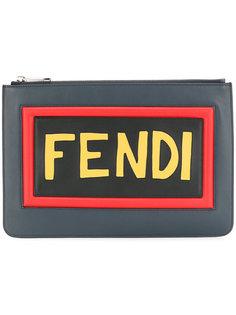 Inlaid logo pouch Fendi