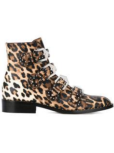 ботинки с леопардовым рисунком Givenchy