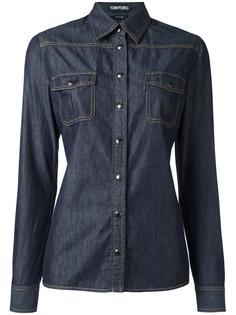 джинсовая рубашка с нагрудным карманом  Tom Ford