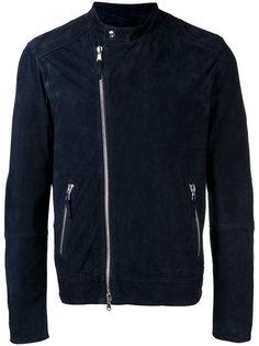 байкерская куртка с серебристой отделкой Eleventy