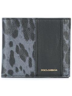 бумажник с леопардовым рисунком Dolce & Gabbana