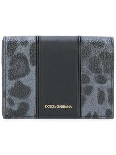 кошелек с леопардовым рисунком Dolce & Gabbana