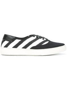 полосатые кроссовки Off-White