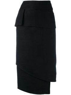 асимметричная юбка  Tom Ford