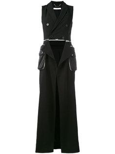 пальто без рукавов с вырезом Givenchy
