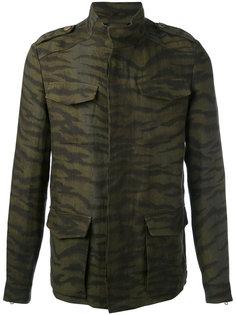 куртка с карманами и рисунком под зебру Etro