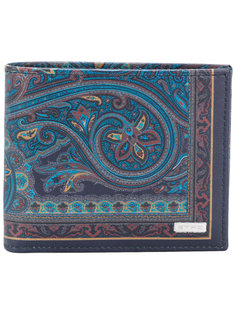 бумажник с принтом пейсли Etro