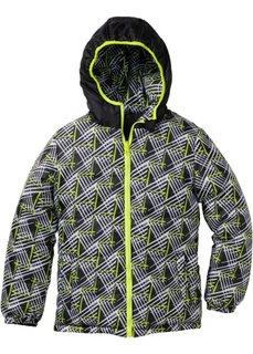 Двухсторонняя стеганая куртка (черный/желтый неон) Bonprix