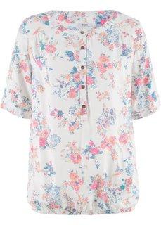 Блузка с рукавом 1/2 (кремовый с рисунком) Bonprix