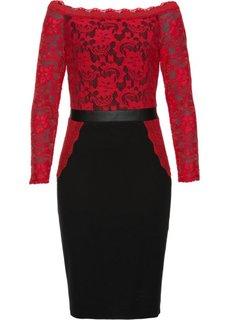 Платье (черный/красный) Bonprix