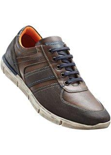 Кожаные туфли на шнуровке (коричневый) Bonprix