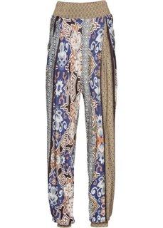 Пляжные брюки (коричневый/лиловый/белый) Bonprix