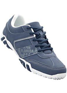 Туфли на шнуровке (синий/белый/светло-серый) Bonprix