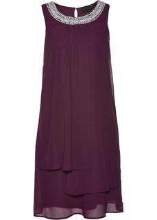 Коктейльное платье класса ПРЕМИУМ (ягодный) Bonprix