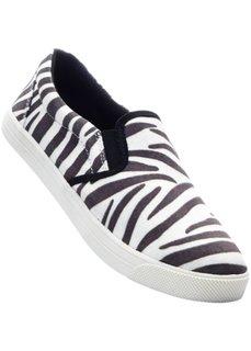 Сникерсы (черный/белый с узором зебры) Bonprix