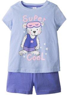 Пижама с шортами (2 изд.) (синий жемчуг/лилово-синий) Bonprix