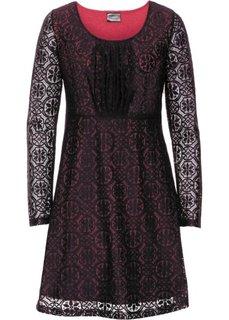 Платье с кружевной отделкой (красный/черный) Bonprix