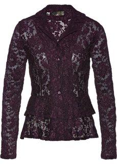 Кружевная блузка (ягодный) Bonprix