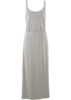 Трикотажное платье без рукавов (светло-серый меланж) Bonprix