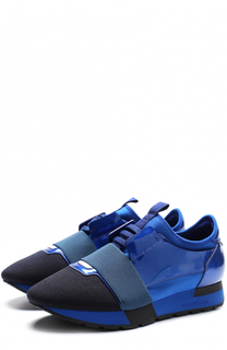 Комбинированные кроссовки Race Balenciaga