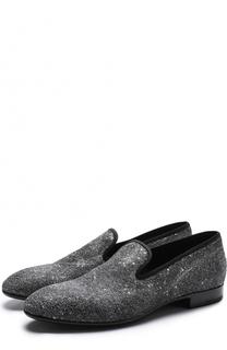 Текстильные слиперы с глиттером Dior