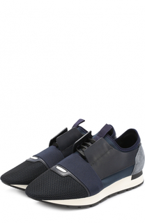 Комбинированные кроссовки Race на шнуровке с эластичной вставкой Balenciaga