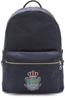 Текстильный рюкзак Vulcano с вышивкой Dolce & Gabbana