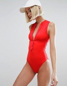 Слитный купальник Calvin Klein - Красный