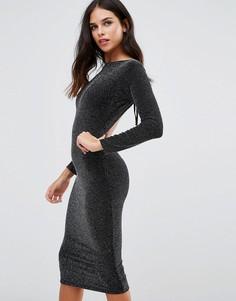 Платье миди с открытой спиной Honor Gold Sophia - Черный