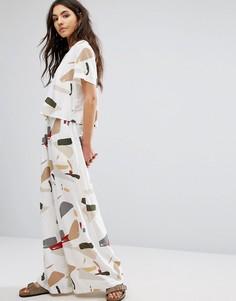 Широкие брюки с абстрактным принтом Native Youth - Мульти