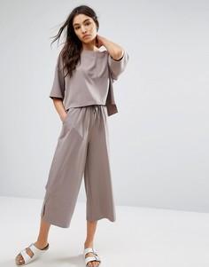 Свободные укороченные брюки с широкими штанинами Native Youth - Серый