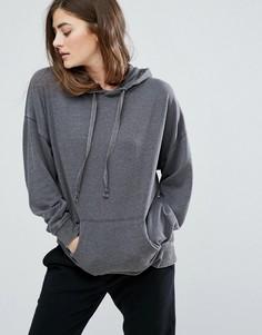 Укороченный худи New Look - Серый