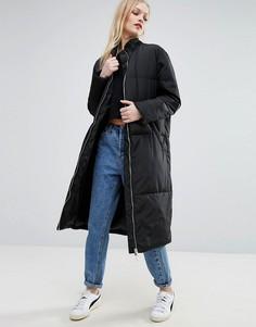 Длинное дутое пальто ADPT Slumber - Черный