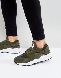 Зеленые кроссовки для бега Nike Air Huarache Run 318429-306 - Зеленый