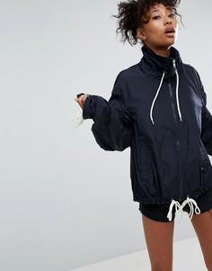 Дождевик с контрастными шнурками ASOS - Темно-синий
