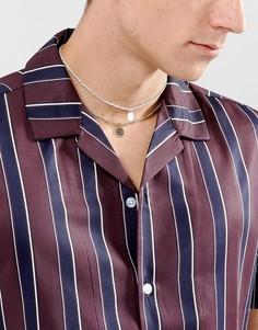 Двухъярусное ожерелье-чокер с подвесками ASOS - Мульти