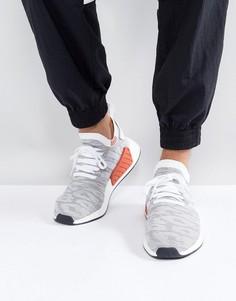 Белые кроссовки adidas Originals NMD R2 Primeknit BY9410 - Белый