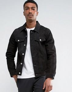 Замшевая куртка Weekday - Черный