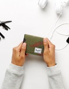 Бумажник с отделением для монет и RFID от Herschel Supply Co. Roy - Зеленый