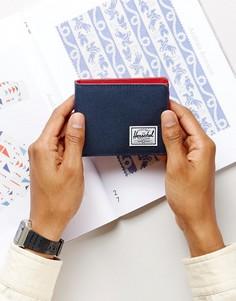 Бумажник с отделением для монет и RFID от Herschel Supply Co. Roy - Темно-синий