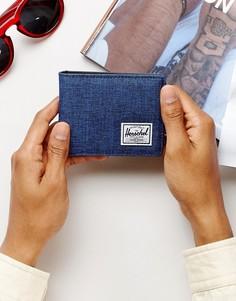 Бумажник с RFID от Herschel Supply Co. Roy - Темно-синий