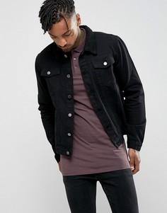 Джинсовая куртка с воротником борг Criminal Damage - Черный